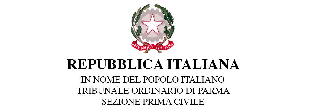 Repubblica Italiana - Tribunale Ordinario di Parma