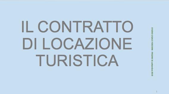 Contratto di locazione turistica