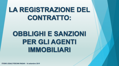registrazione del contratto di locazione