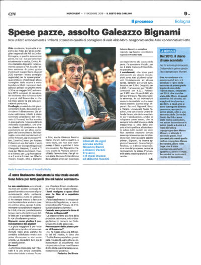 Assoluzione Galeazzo Bignami e Gianni Varani