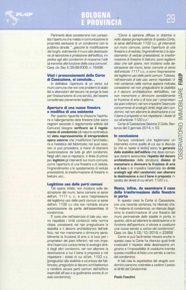 Osservatorio Immobiliare Provincia di Bologna 2019